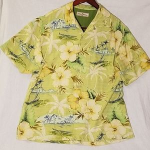 Gorgeous Tommy Bahama Green Hawaiian Shirt!